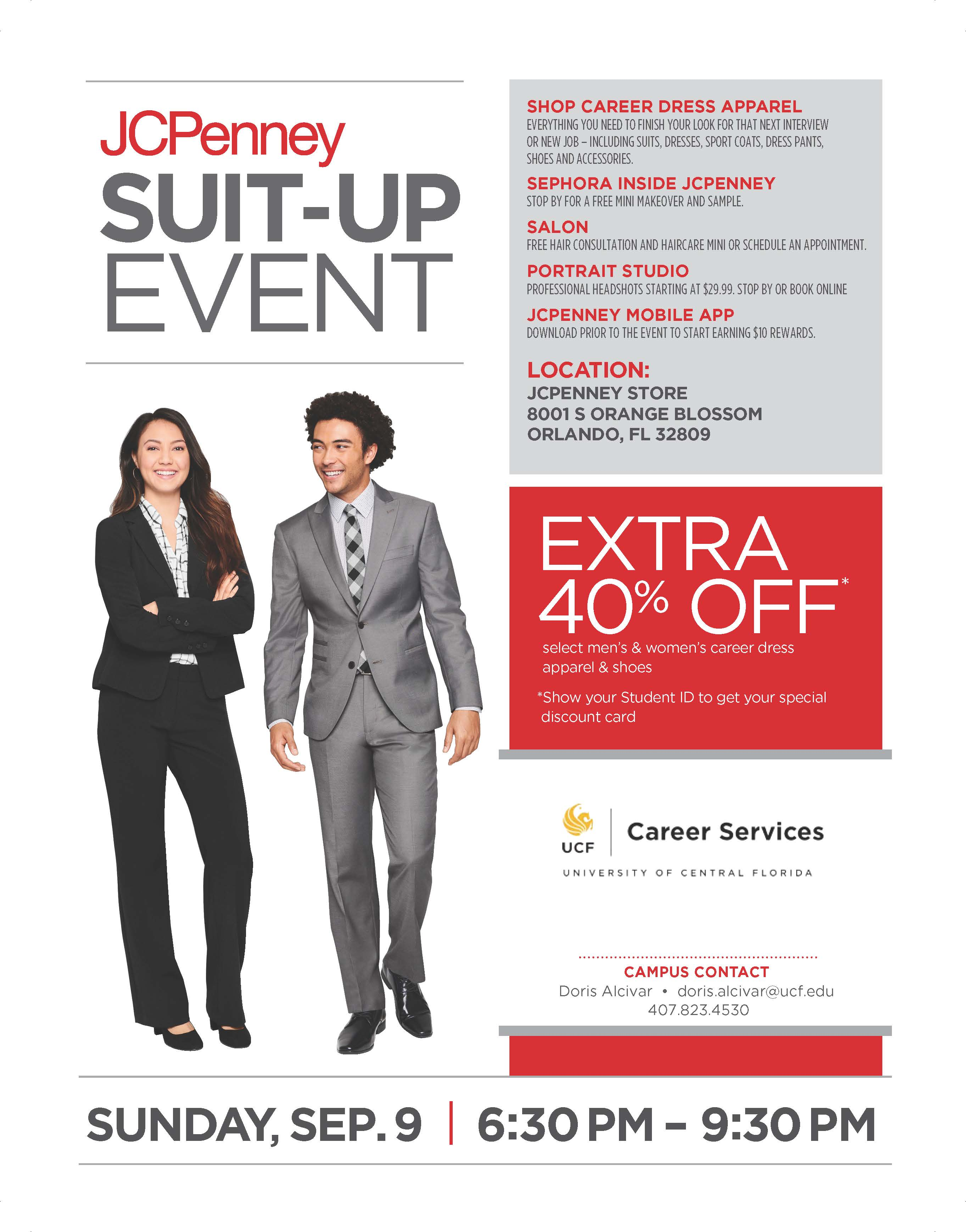 """UCF Career Services Partners with JCPenney for """"Suit Up Event ..."""